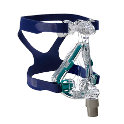 The ResMed Mirage Quattro™ Full Face CPAP Mask gives you the secure fit you need for a successful night of rest. With several adjustment areas to provide the most comfortable fit and seal possible, this full-face mask is the answer for those with frequent nasal congestion or in the event of an unfortunate cold. Dual Cushion 1